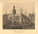ST HELEN BISHOPSGATE. South west view of the church. London. WILKINSON 1834